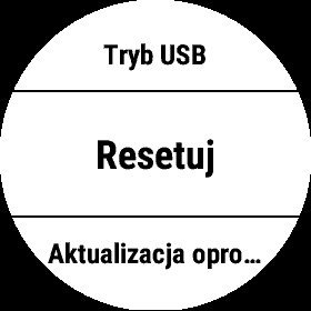 Opcja Resetuj