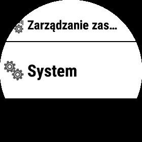 Opcja System w Ustawieniach