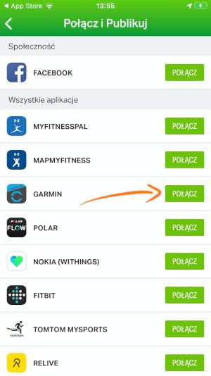Połącz z Garmin Connect