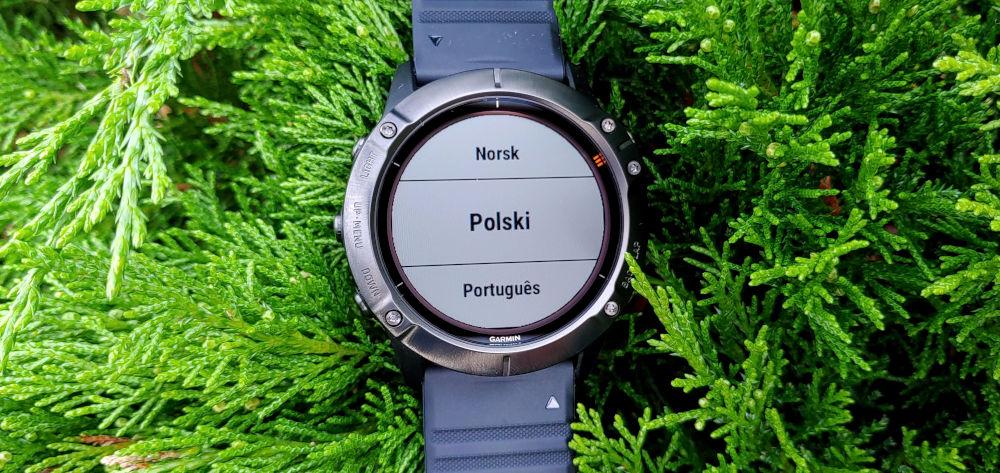 Wgrywanie języka polskiego do zegarka Garmin